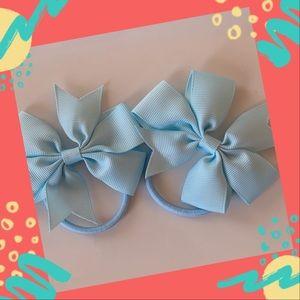 👶5/$25 Lt. Blue Elastic HairTies Ponytail